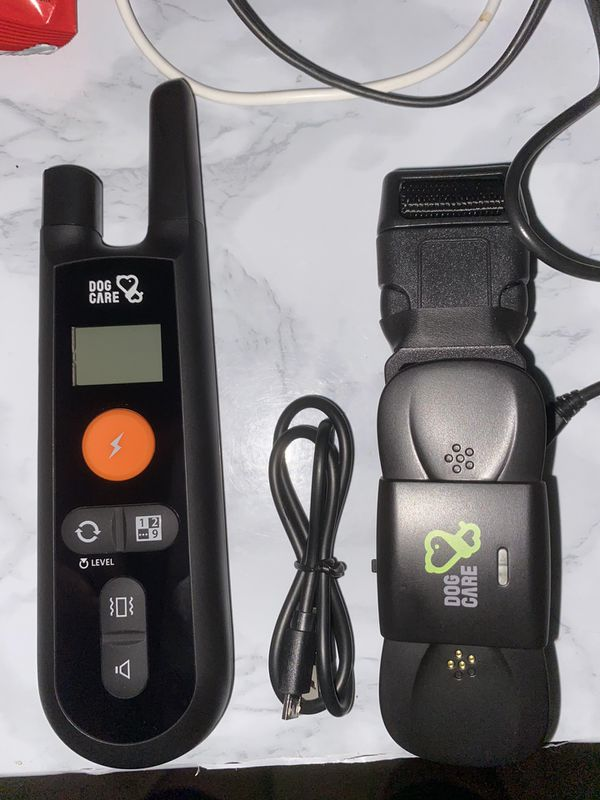 Dog training collar with remote control