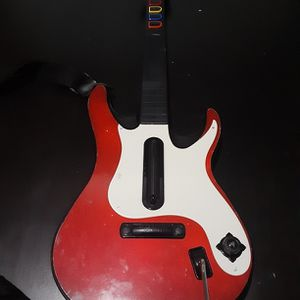 Guitar Hero/Band Hero Red Fender Stratocaster Guitar/Controller For PS2/PS3 (Playstation) for Sale in Fort Worth, TX
