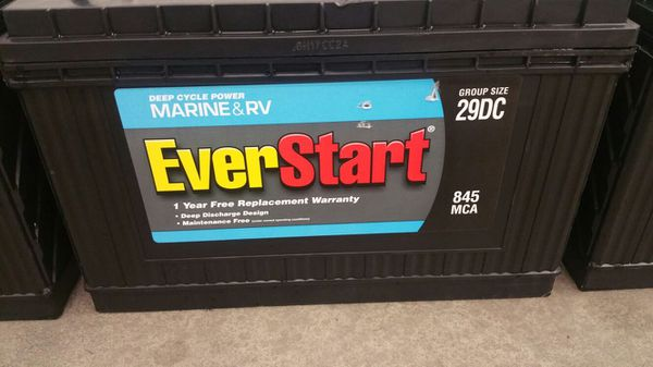 Everstart Maxx 29DC Marine, Deep Cycle, RV, Battery  As New ! for Sale in  San Jose, CA - OfferUp