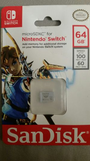 Sandisk 64gb micro sd card nintendo switch for Sale in Norwalk, CA