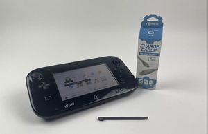 Nintendo WII U REPLACEMENT GAMEPAD CONTROLLER + STYLUS, CHARGER WUP-010 USA for Sale in Tucson, AZ