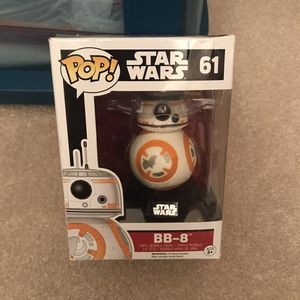 Bb8 pop funko figurine figure in box bb-8 star wars movies films action for Sale in Burtonsville, MD