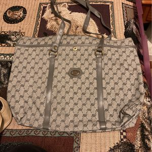 Gray Faux Leather Tote Bag With Zipper for Sale in Greenbelt, MD