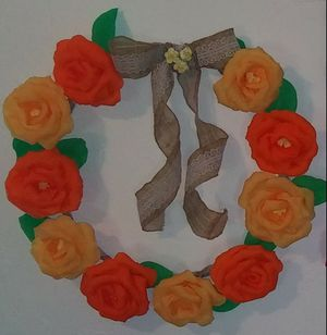 Crepe paper rose wreaths for Sale in Tempe, AZ