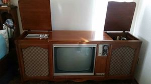 Antique 1970s Furniture with TV, Radio, Record Player for Sale in Gilroy, CA