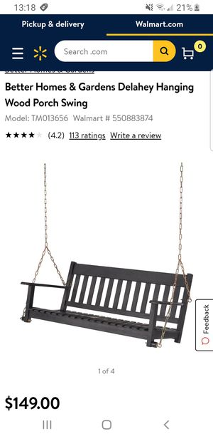 Porch Swing, Dark Brown for Sale in Fresno, CA