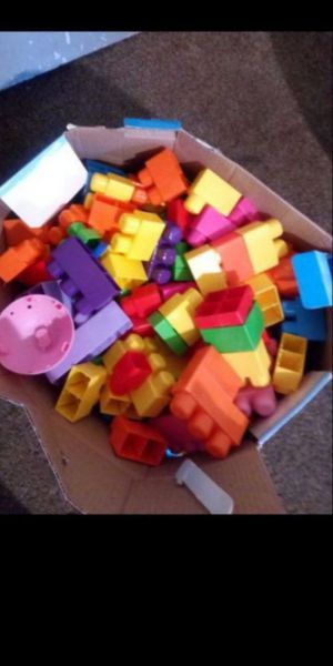 Big box of big multi-colored Legos $30 or best offer for Sale in Fresno, CA