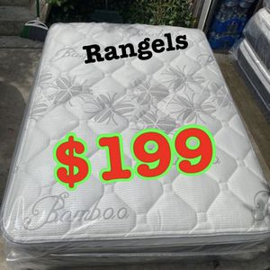 """BRAND NEW """"LUXURY EURO PILLOW TOP BAMBOO"""" MATTRESSES 💯 COLCHONES NUEVOS PILLOW TOP 💯( LIMITED TIME ONLY) 5 year factory warranty ! 💥12 inches thi for Sale in Beverly Hills, CA"""