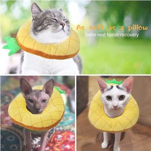 Cute Pineapple Neck Cat Cones After Surgery, Adjustable Cat E Collar, Surgery Recovery Elizabethan Collars for Kitten and Cats for Sale in South Gate, CA
