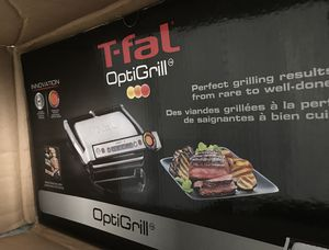 T-Fal GC7 Opti-Grill Indoor Electric Grill, 4-Servings, Automatic Sensor Cooking, Silver for Sale in Sacramento, CA