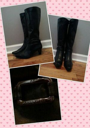 Anne Klein tall leather boot for Sale in Detroit, MI