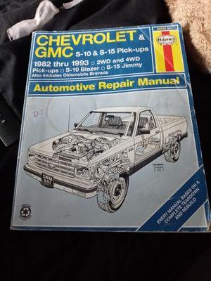 82-93 Chevrolet &GMC S10 S15 pick ups repair manual for Sale in Los Alamitos, CA