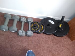 10 and 8 pound weights for all for Sale in Lansing, MI