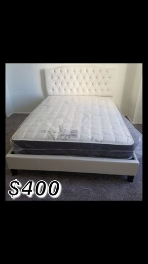 Cali king bed frame with mattress included for Sale in Long Beach, CA