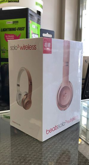 Apple Beats By Dre Solo 3 Wireless Rose Gold Original Genuine Brand New In The Box - Retails For $299 for Sale in Arlington, TX