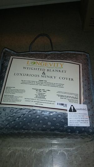 Weighted blanket & luxurious minky cover for Sale in Lawndale, CA