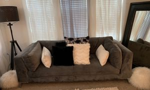 BEAUTIFUL PRACTICALLY NEW CORAL GREY SOFA** for Sale in Tampa, FL