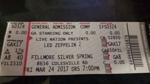 Led Zeppelin tickets for Sale in Silver Spring, MD