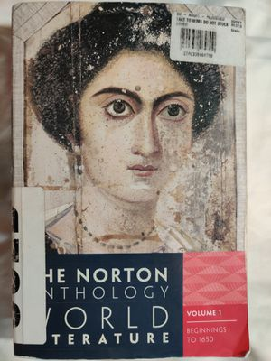 The Norton Anthology of World Literature. Volume 1. Beginnings to 1650 for Sale in Clovis, CA