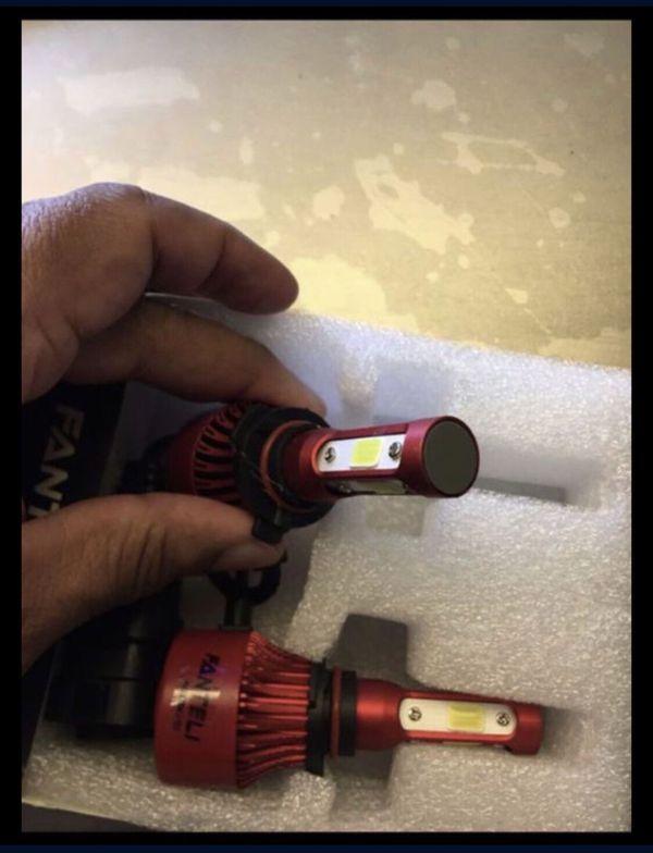 LED Headlight fog light foglight bulbs 4 - sided * style 9005 HB3 9145 9140 H10 9005XS 9011