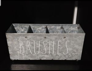 Rae Dunn BRUSHES holder / farmhouse decor home makeup for Sale in Compton, CA