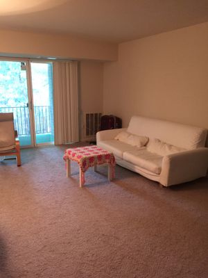 Couch - white and clean with small table for Sale in West McLean, VA