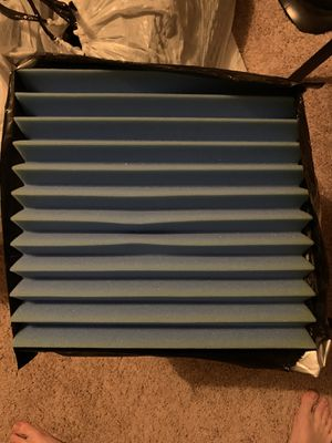 """Acoustic panels 2""""x12""""x12"""" light blue and light purple for Sale in West Hollywood, CA"""