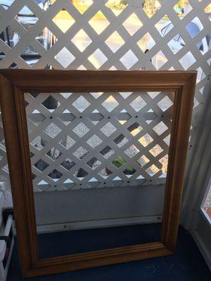 Antique mirror/picture frame 38x30 wood. for Sale in Jupiter, FL