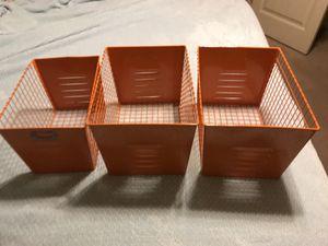 3 orange storage containers locker storage for Sale in Queen Creek, AZ