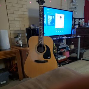 Epiphone acoustic guitar with mother of pearl inlay , model # DR-100 for Sale in PT CHARLOTTE, FL