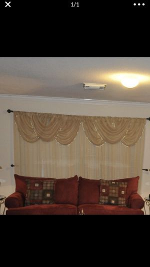 Curtains and valance for Sale in Humble, TX