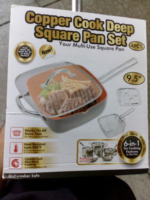 Brand New Copper deep square pan set for Sale in E RNCHO DMNGZ, CA