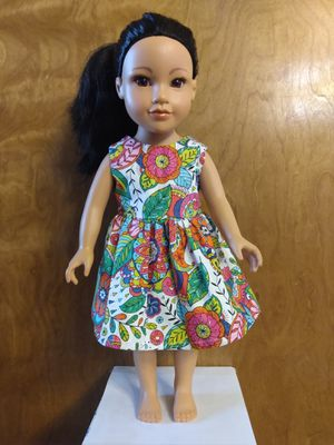 "American Girl Or 18""inches doll dress made to fit 18 inches dolls perfect for gift for your child favorite doll for Sale in Peoria, IL"