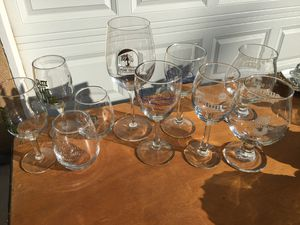 10 wine tasting glasses from wine tasting events all$10 for Sale in Fresno, CA