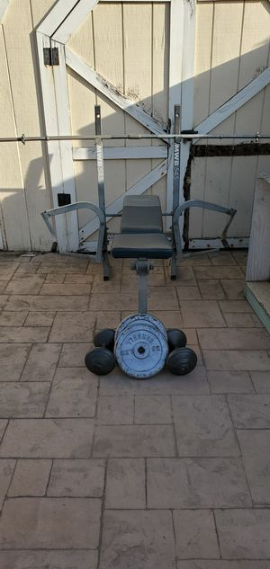 Weights and marcy bench for Sale in Modesto, CA