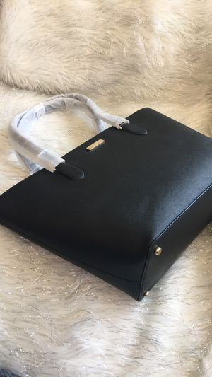 Kate spade black leather tote bag for Sale in Escondido, CA