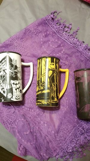 Nightmare before Christmas 3 mugs vintage $300.00 for Sale in San Marcos, CA