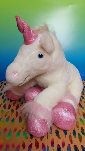 White and Pink Unicorn 15 Inch Plush Toy for Sale in Santa Ana, CA