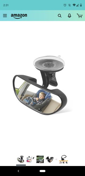 Baby Car Backseat Mirror, Rear View Facing Back Seat Mirror Child Safety Rearview Adjustable Forward Baby Mirror for Infant for Sale in San Diego, CA