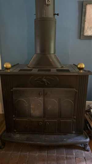 Beautiful older style large wood stove w/blower! for Sale in Beacon Falls, CT