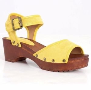 Qupid Yellow Suede Studded Clogs Sz 5-10 NIB for Sale in Miami, FL