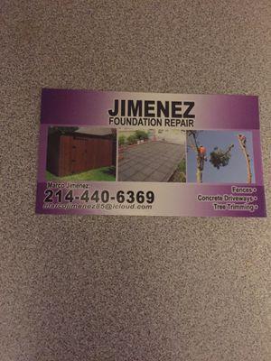 Jimenez Foundation Repair for Sale in Garland, TX