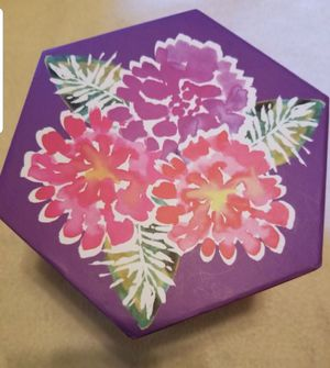Pink/Purple Floral Box for Sale in Galloway, OH