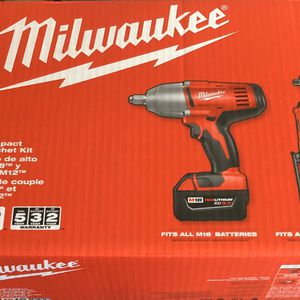 "Milwakee 1/2"" Impact & 3/8"" Ratchet Battery Tools. for Sale in El Monte, CA"