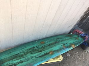 """2 surfboards classic longboards get both and get a free sushi 5'8"""" soft top for Sale in Riverside, CA"""
