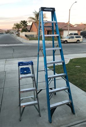 4' and 8' ladder for Sale in Hemet, CA