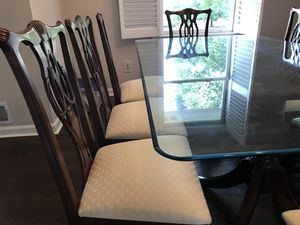 Dining room: China,Table glass tap +8 chairs for Sale in McLean, VA