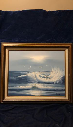 Ocean Waves with Seagulls oil painting painted by Taylor SIGNED for Sale in Bartlett, IL