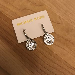 MK Silver tone crystal earings for Sale in Charles Town, WV