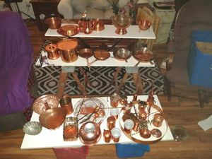 Copper kitchen pots and pans for Sale in Buckeye, AZ